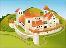 Cartoon old castle Stock Photos