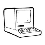 cartoon old computer Stock Photo