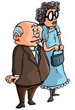 Cartoon of old couple Royalty Free Stock Photography