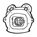 Cartoon old deep sea diver helmet Royalty Free Stock Photos
