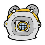 Cartoon old deep sea diver helmet Stock Images