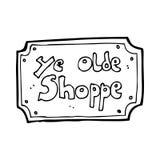cartoon old fake shop sign Stock Photography
