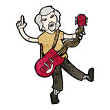 Cartoon old guitar player Royalty Free Stock Photos