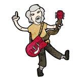 Cartoon old guitar player Royalty Free Stock Photos