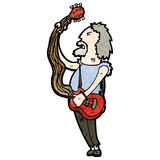 Cartoon old guitar player Royalty Free Stock Photography