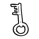 Cartoon old key Royalty Free Stock Images