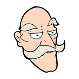cartoon old man face Royalty Free Stock Image
