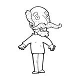 Cartoon old man gasping in surprise Royalty Free Stock Photography