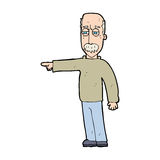 Cartoon old man gesturing Get Out! Stock Photography
