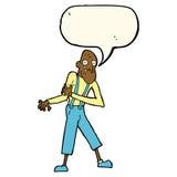 Cartoon old man having heart attack with speech bubble Stock Photography