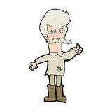 Cartoon old man in poor clothes Stock Photography