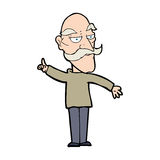 cartoon old man telling story Stock Photography
