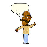 cartoon old man telling story with speech bubble Royalty Free Stock Photo