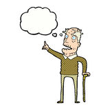 Cartoon old man with walking stick with thought bubble Cartoon old man ... Old Man Walking Cartoon
