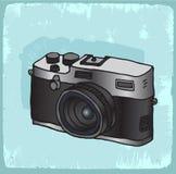 Cartoon old photo camera illustration, vector icon. Royalty Free Stock Photography