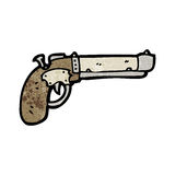 Cartoon old pistol Royalty Free Stock Photography