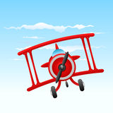 Cartoon old plane Stock Photos