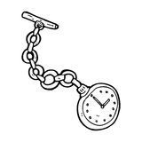 cartoon old pocket watch Stock Image