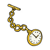cartoon old pocket watch Royalty Free Stock Images