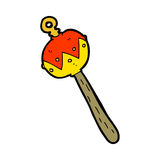Cartoon old rattle Royalty Free Stock Images