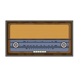 Cartoon old retro radio Royalty Free Stock Image