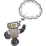 Cartoon old robot Stock Image