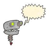 Cartoon old robot head Stock Photos
