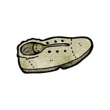 cartoon old shoe Stock Image