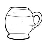 cartoon old style mug Stock Image