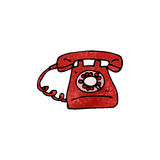 cartoon old style telephone Royalty Free Stock Photos