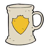 Cartoon old tankard Stock Photos