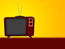 Cartoon of old television Stock Photos