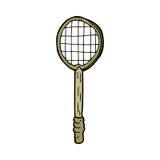 Cartoon old tennis racket Royalty Free Stock Photos