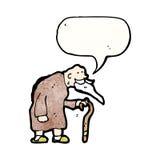 Cartoon old woman Royalty Free Stock Image