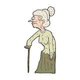 Cartoon old woman Stock Photography