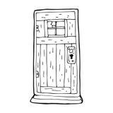 Cartoon old wood door Stock Photo