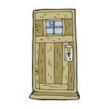 Cartoon old wood door Royalty Free Stock Image