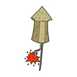 Cartoon old wood rocket Royalty Free Stock Images
