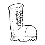 Cartoon old work boot Royalty Free Stock Image
