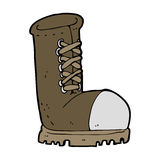 cartoon old work boot Stock Images