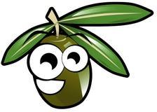 Cartoon olive isolated illustration Royalty Free Stock Photography