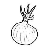 Cartoon onion Royalty Free Stock Photography