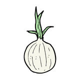 Cartoon onion Stock Photography