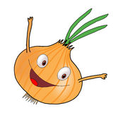 Cartoon onion hand-drawn Stock Images