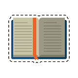 Cartoon open book school learning library Stock Image