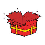 cartoon open present Royalty Free Stock Images