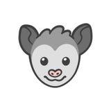 Cartoon Opossum face Royalty Free Stock Image