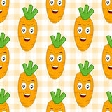 Cartoon Orange Carrot Seamless Pattern Stock Photos