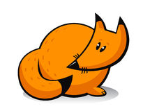 Cartoon orange fox Royalty Free Stock Photos
