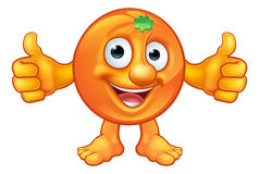 Cartoon Orange Fruit Character Mascot Royalty Free Stock Photos